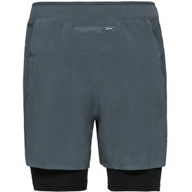 Odlo Zeroweight Ceramicool PRO 2 in 1 Shorts Men dark slate-black